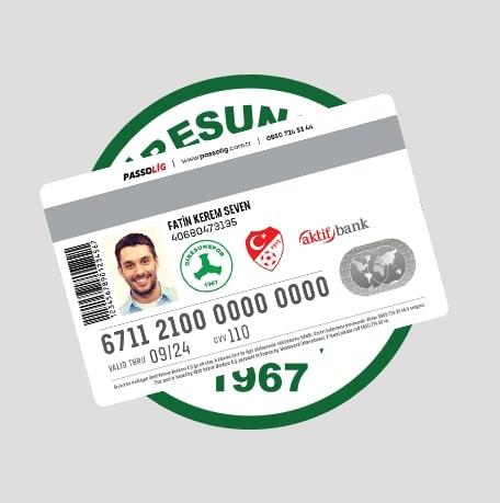 Passolig Akın Çorap Giresunspor Kredi Kartı